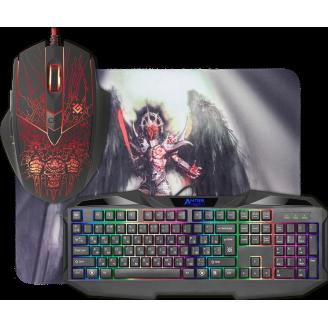 Комплект проводной (мышь+клавиатура+ковер ) Defender Anger MKP-019 RU