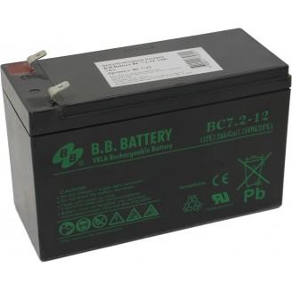 Аккумуляторная батарея для ИБП B.B. BATTERY BC 7,2-12 12В, 7.2Ач