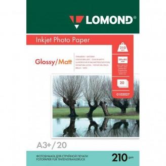 Фотобумага LOMOND Глянцевая-матовая (210гр/м А4 50листов) двухсторонняя