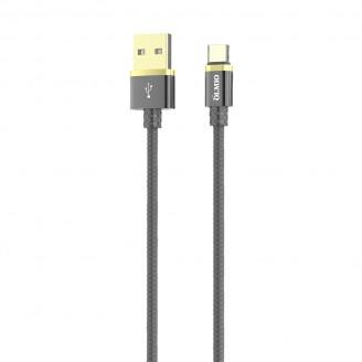 Кабель Type-C OLMIO DELUXE USB 2.0  2.1А 1m серый