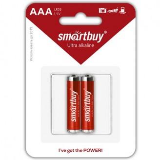 Батарейки алкалиновые AAA SmartBuy LR03/2B SBBA-3A02B