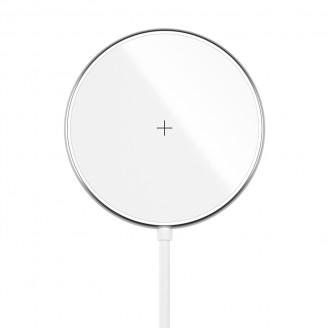 Беспроводное зарядное устройство Olmio MagCharge white