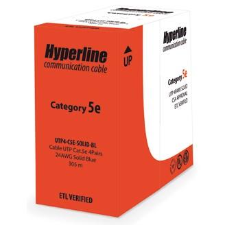 Кабель сетевой HyperLine UTP4-C5E-SOLID-WH-305