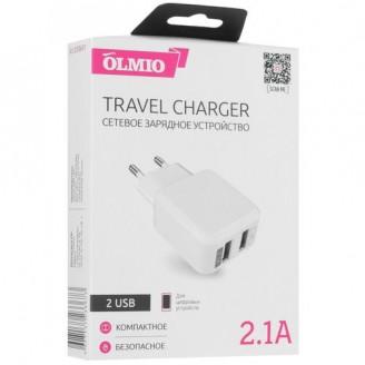 Сетевое зарядное устройство Olmio Travel Charger 2 USB