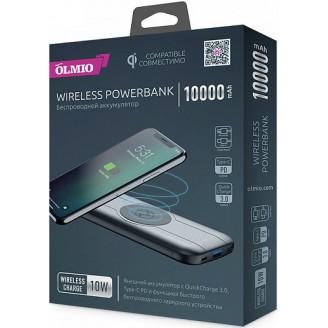 Power Bank OLMIO 038732 10000mAh беспроводной