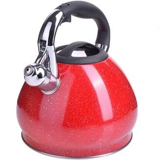 Чайник 28555 3,4л нерж/сталь со свистком