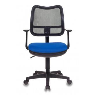 Кресло Бюрократ Ch-797AXSN черный сиденье синий