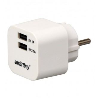 Сетевое зарядное устройство Smart Buy VOLT 2 USB, 3.1A White