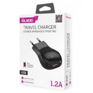 Сетевое зарядное устройство OLMIO USB 1,2А