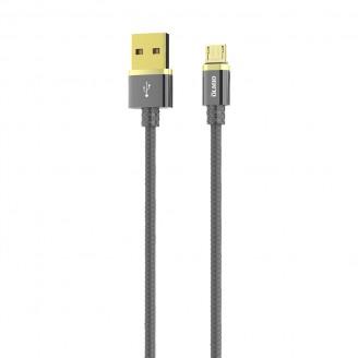 Кабель OLMIO DELUXE USB 2.0 - microUSB  серый