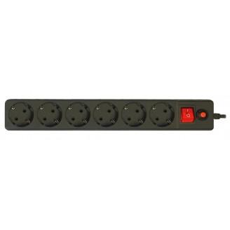 Сетевой фильтр CBR CSF 2600-5.0 6розеток, 5 м черный