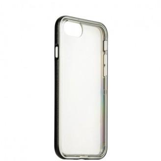 Бампер KRUTOFF для iPhone 7 (силикон прозрачно темный)