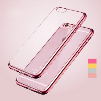 Бампер KRUTOFF для iPhone 7 (силикон прозрачно розовый)