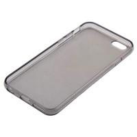 Бампер KRUTOFF для iPhone 6/6S (cиликон темнo-прозрачный)