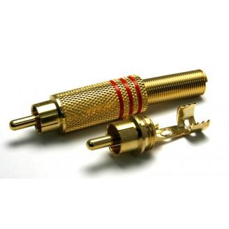 Штекер RCA метал винтовой