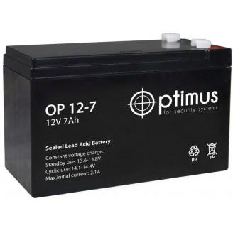 Аккумуляторная батарея OPTIMUS OP12-7 12V 7Ah