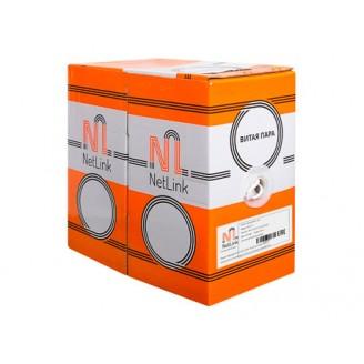 Кабель сетевой NetLink FTP 5e 4x2x24 AWG белый внутренний 305м