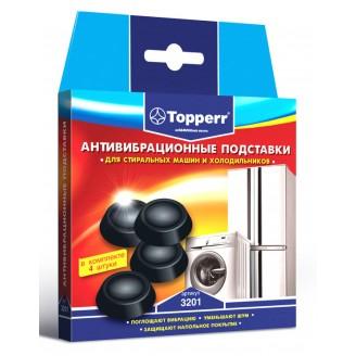 Подставки для стиральных машин и холодильников Topperr черный полимер (упак: 4шт) (3201)