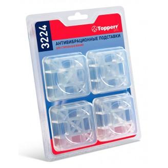 Подставки для стиральных машин Topperr квадратные прозрачный полимер (упак: 4шт) (3224)
