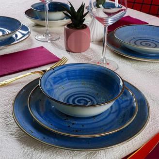 Обеденный сервиз из керамики REDBERG RB-3000 синий