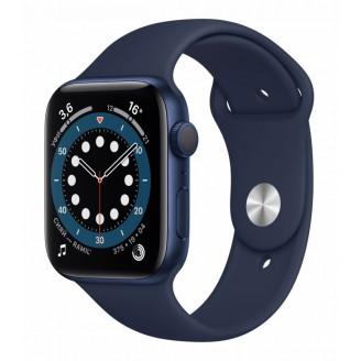Apple Watch Series 6, 44 мм, синий алюминий, спортивный ремешок цвета 'тёмный ультрамарин' (M00J3RU/A)