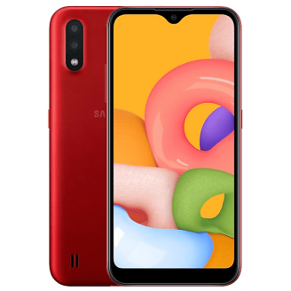 Смартфон Samsung Galaxy A01 16Gb Красный (SM-A015F)