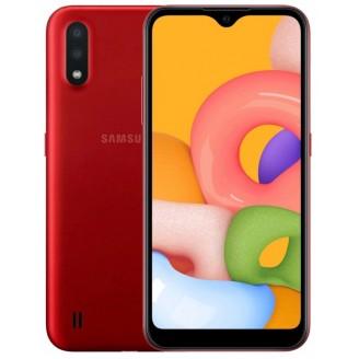 Смартфон Samsung Galaxy M01 32Gb Красный (SM-M015F)