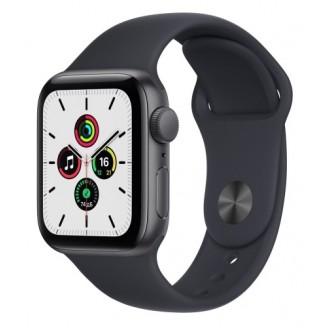 Apple Watch SE 2021, 40 мм, алюминий 'серый космос', спортивный ремешок 'темная ночь' (MKQ13RU/A)