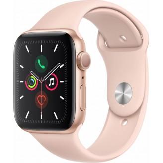 Apple Watch Series 5, 44 мм, золотистый алюминий, спортивный браслет цвета