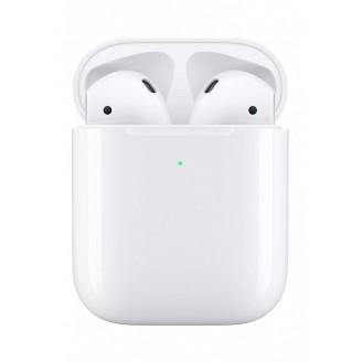 Беспроводные наушники Apple AirPods 2 (MRXJ2) в футляре с возможностью беспроводной зарядки