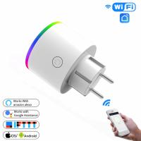 WiFi розетка LED RGB 16A