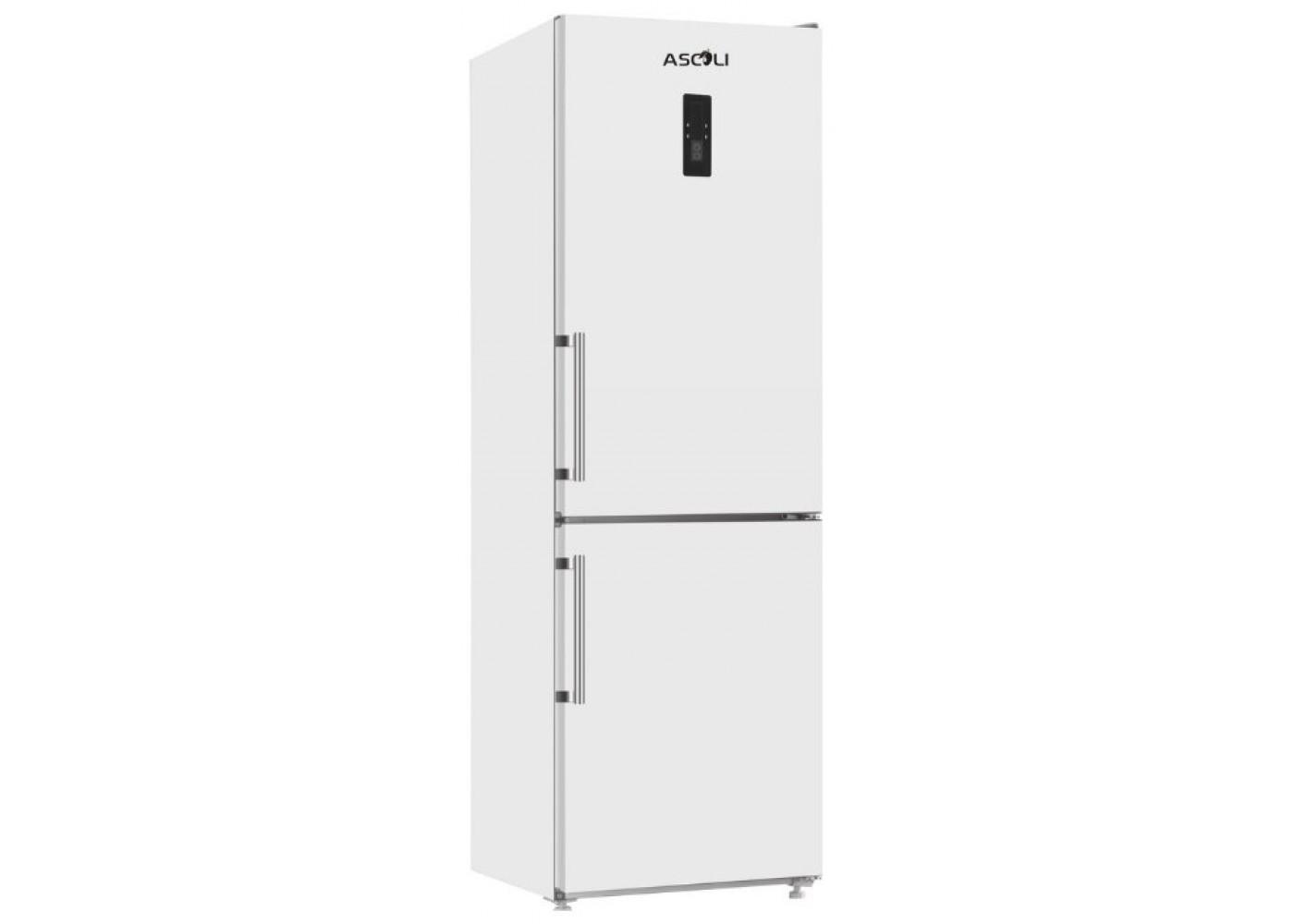 Холодильник ASCOLI ADRFW375WG белый (стекло, FNF)