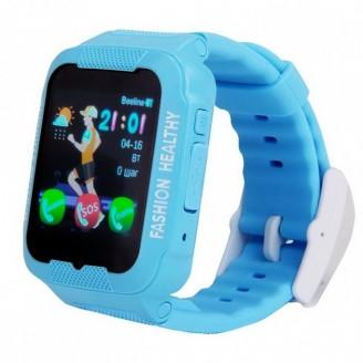 Умные часы Smart Baby Watch SBW KID, голубые