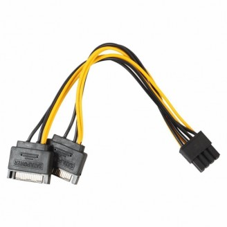 переходник 2xSata - 6+2 pin