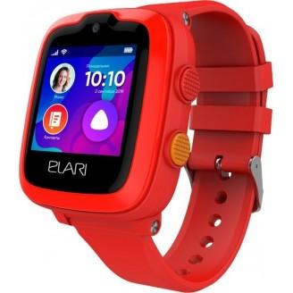 Детские умные часы Elari KidPhone 4G (KP-4G), Красные
