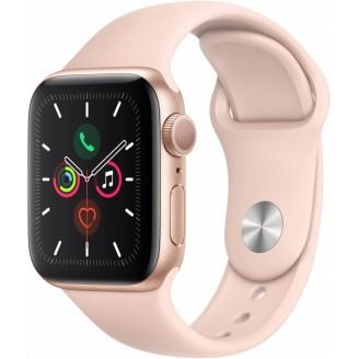 Apple Watch Series 5, 40 мм, золотистый алюминий, спортивный браслет цвета