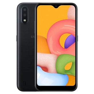 Смартфон Samsung Galaxy A01 16Gb Чёрный (SM-A015F)