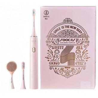 Электрическая зубная щетка XiaoMi Soocas Toothbrush X3U (с щеточкой для лица), Misty Pink