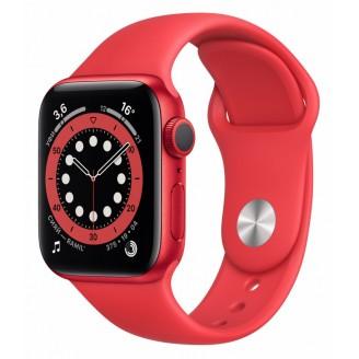 Apple Watch Series 6, 44 мм, алюминий цвета (PRODUCT)RED, спортивный ремешок красного цвета (M00M3)