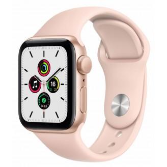 Apple Watch SE, 40 мм, золотистый алюминий, спортивный ремешок цвета 'розовый песок' (MYDN2RU/A)
